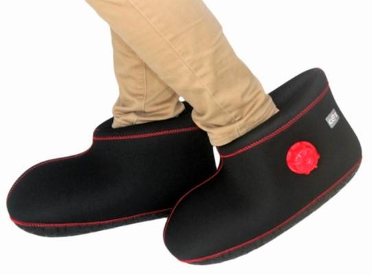 【ふるさと納税】クロッツやわらか湯たんぽ/足用ショートタイプ(ブラック/M)