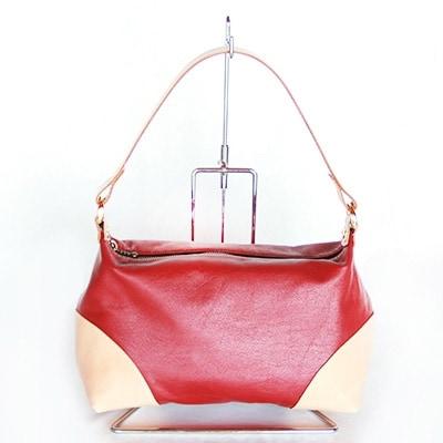 【ふるさと納税】ちょこっと持ちのハンドバッグ(赤系) YY05【1098848】