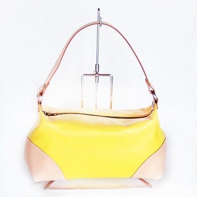 【ふるさと納税】ちょこっと持ちのハンドバッグ(黄色系) YY07【1098850】