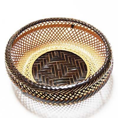 【ふるさと納税】竹細工 鉄鉢盛篭黒(1923002)【1119661】