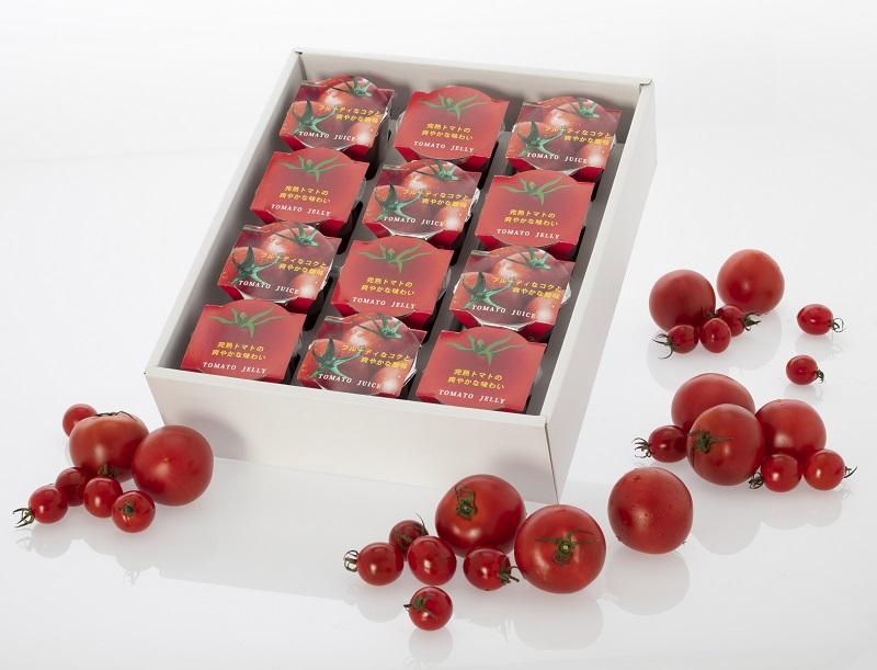 【ふるさと納税】【太陽からの贈り物】日向の雫 プレミアムトマトジュースとたっぷりトマトのプレミアムゼリー詰め合わせ(各6個入り)