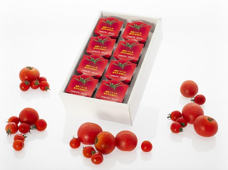 濃厚なトマトのコクと爽やかな風味がぎゅーっと詰まったトマトゼリー ふるさと納税 食塩不使用 驚きの値段で 日向の雫 8個入り 優先配送 たっぷりトマトのプレミアムゼリー