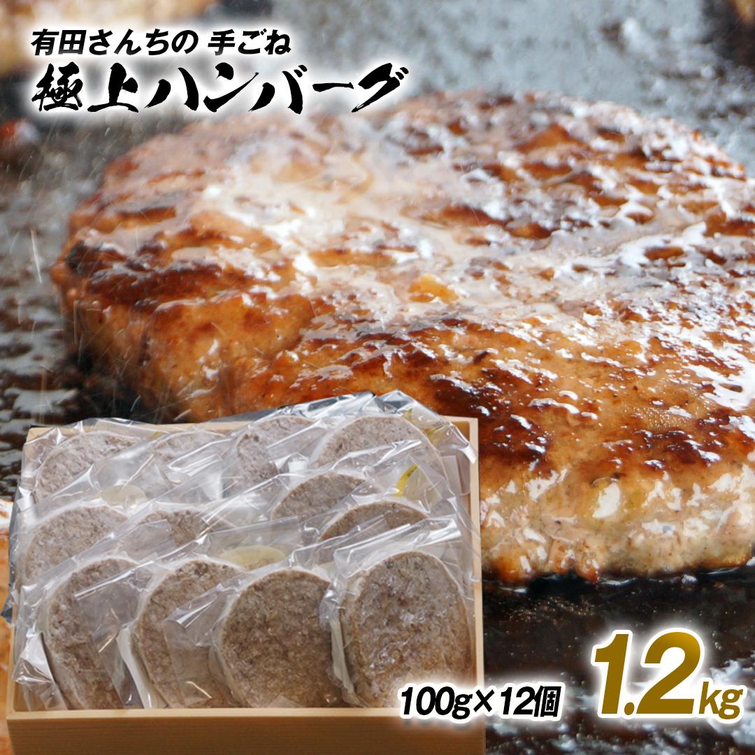【ふるさと納税】有田さんちの極上手ごねハンバーグ(100g×12個)【1.2kg】スペシャルポーション