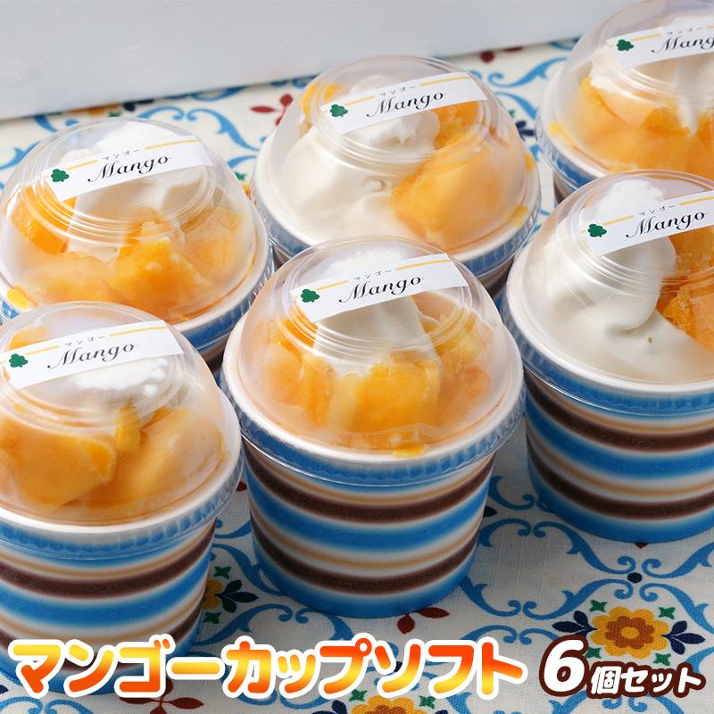 【ふるさと納税】『morino-fu』マンゴーカップソフト 6個セット