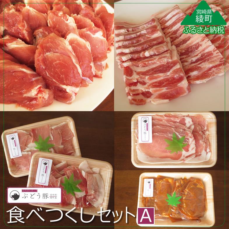 【ふるさと納税】『綾ぶどう豚』やわらか味噌 食べつくし5種セットA