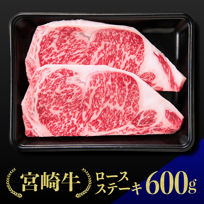 【ふるさと納税】宮崎牛ロースステーキ300g×2枚