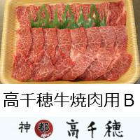 【ふるさと納税】B-1 高千穂牛焼肉用 B