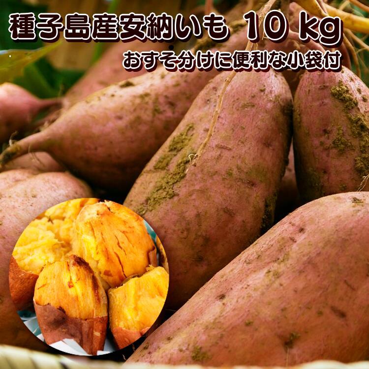 【ふるさと納税】REIMEI種子島安納いも(生いも)10kg(S・M・L混)小分け袋10枚入