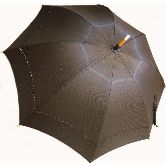 【ふるさと納税】I-802 本場大島紬 日傘(青縞)