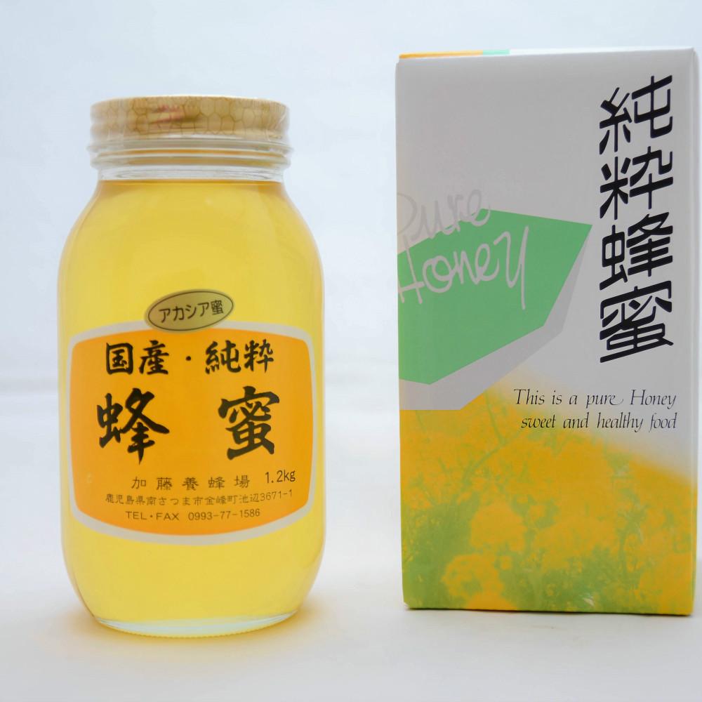 □【ふるさと納税】【鹿児島県南さつま市産】純粋蜂蜜 アカシア1.2kg