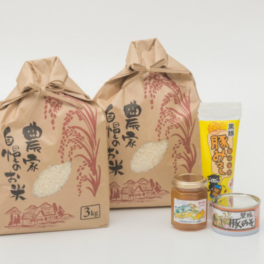 □【ふるさと納税】【鹿児島県南さつま市産】お米6kg・豚みそ・季節のジャムセット