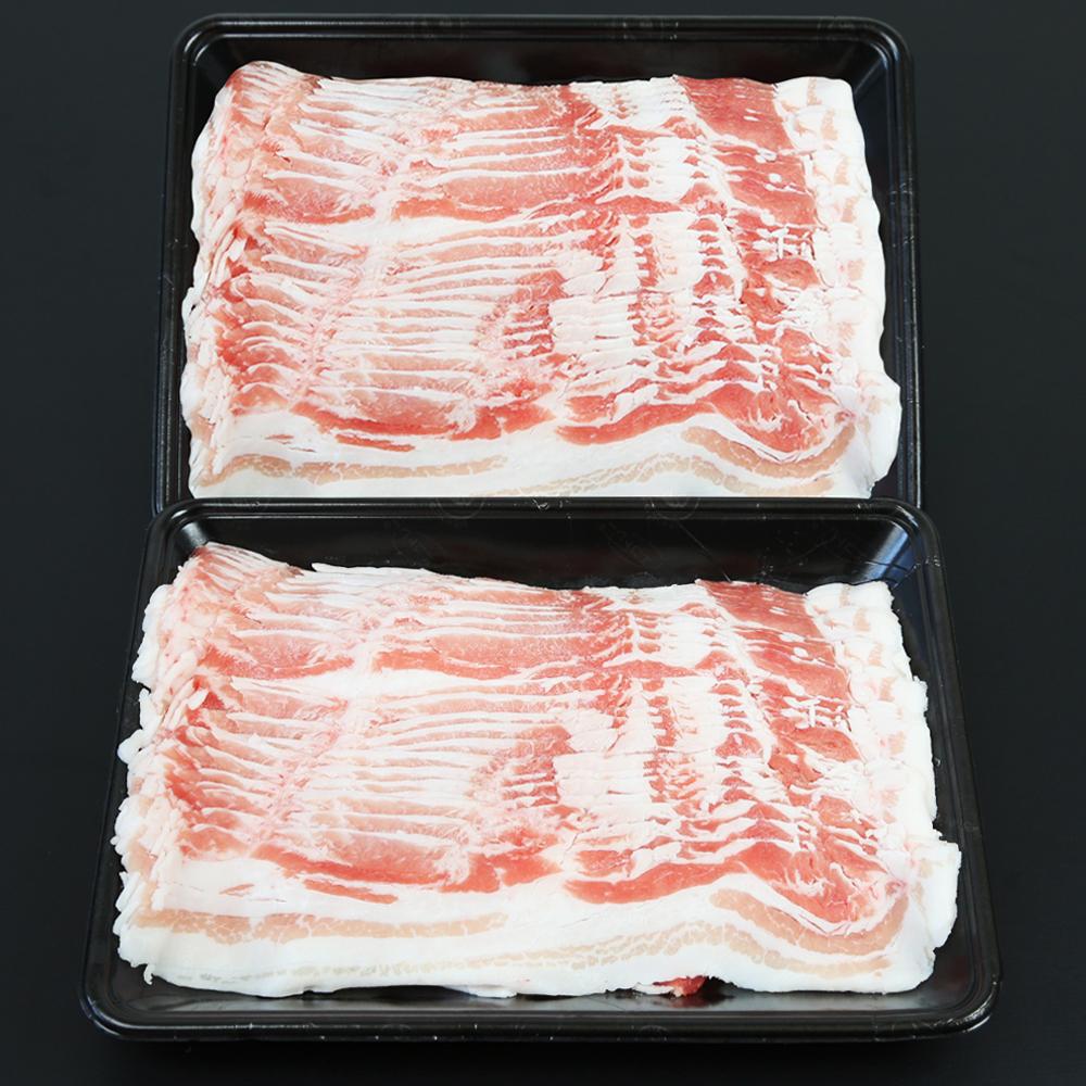 □【ふるさと納税】【鹿児島県産】黒豚 バラスライス 1.2kg(600g×2)