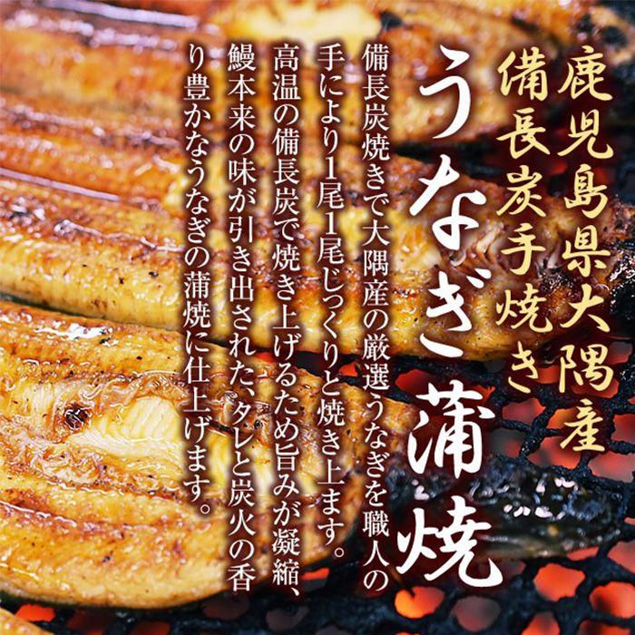 【ふるさと納税】【鹿児島県大隅産】うなぎ備長炭手焼蒲焼4尾