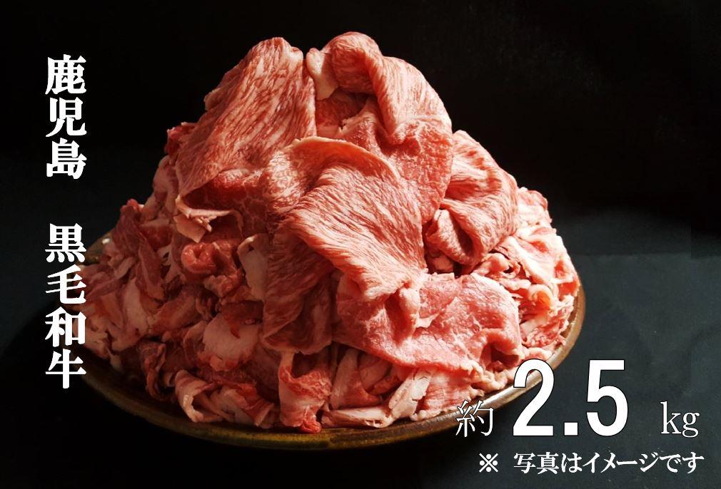 【ふるさと納税】鹿児島県産黒毛和牛 小間切り落とし約2.5kg