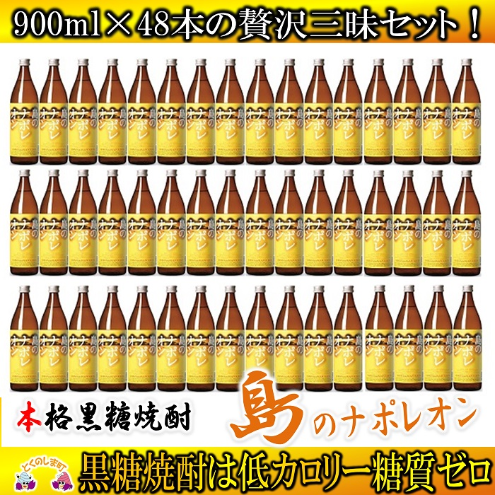 【ふるさと納税】奄美本格黒糖焼酎 島のナポレオン 48本セット