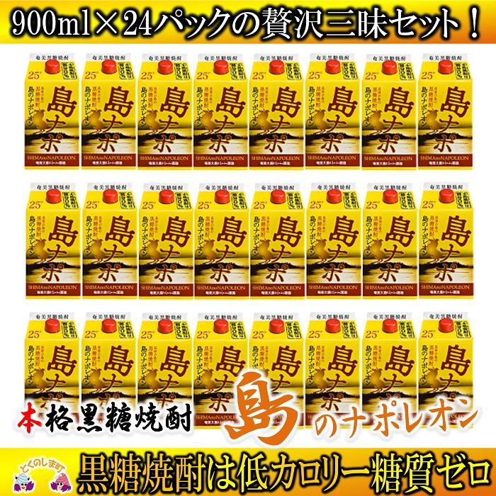 【ふるさと納税】奄美本格黒糖焼酎 島のナポレオンパック 24本セット