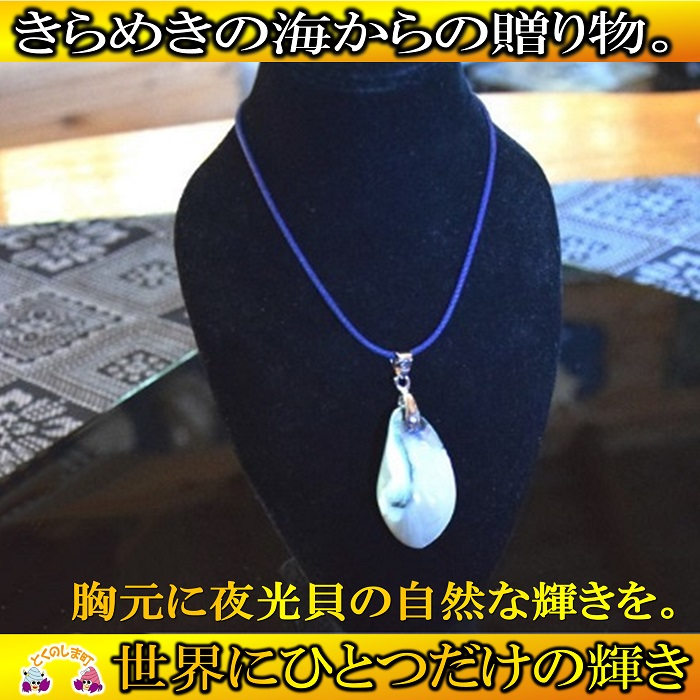 【ふるさと納税】~きらめきの島の宝物~夜光貝ネックレス