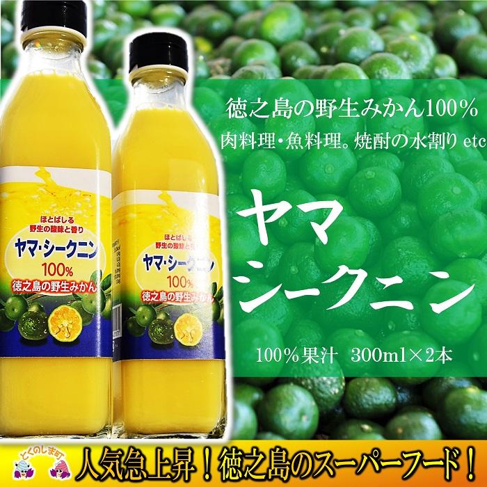 【ふるさと納税】~野生のみかんの味~徳之島のヤマ・シークニン果汁(300ml×2本)