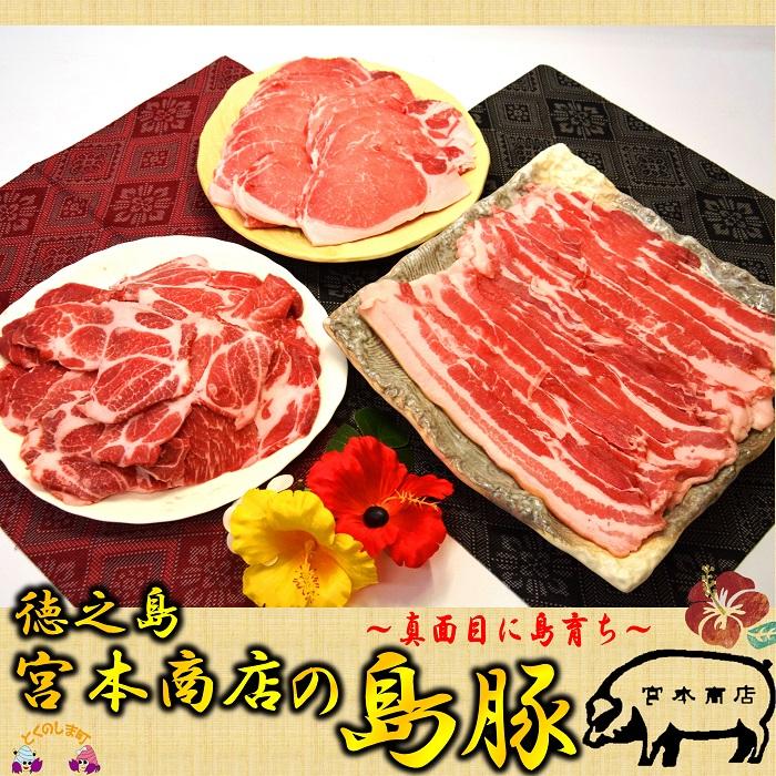 【ふるさと納税】~真面目に島育ち~島豚焼肉セット(3kg)