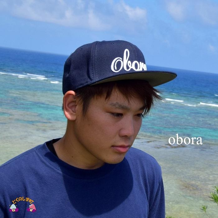 【ふるさと納税】TOKUNOSHIMA発ブランド OBORAキャップ(ネイビー)