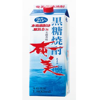【鹿児島徳之島】黒糖焼酎奄美1800ml25度パック×120本セット