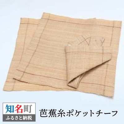 【ふるさと納税】芭蕉布ポケットチーフ1