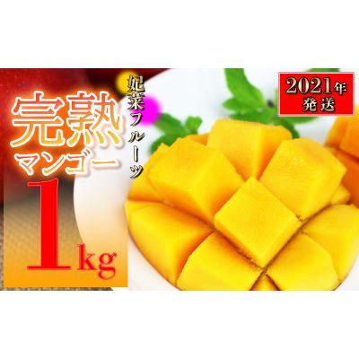 【ふるさと納税】【2021年発送】糸満産!妃菜フルーツ完熟マンゴー1kg(ご家庭用)