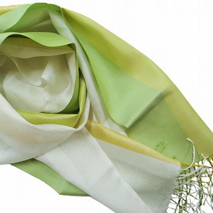 【ふるさと納税】ウージ染め手織りONEショールSEIMEIホワイト