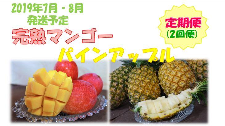 【ふるさと納税】【定期便】パインアップルお任せセット&完熟マンゴー約2kg
