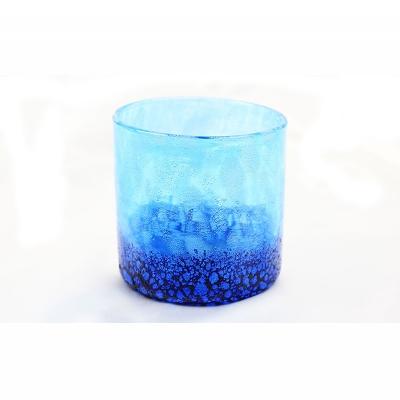 【ふるさと納税】琉球ガラス コバルトロックグラス