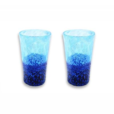 【ふるさと納税】琉球ガラス コバルトLグラス 2個セット