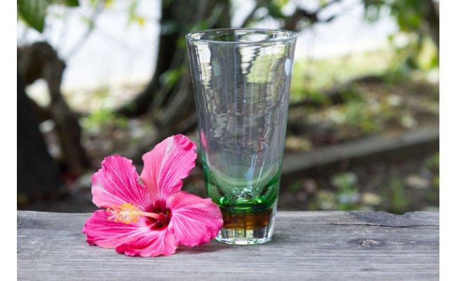 【ふるさと納税】琉球ガラス ビアグラス 緑 FIELD