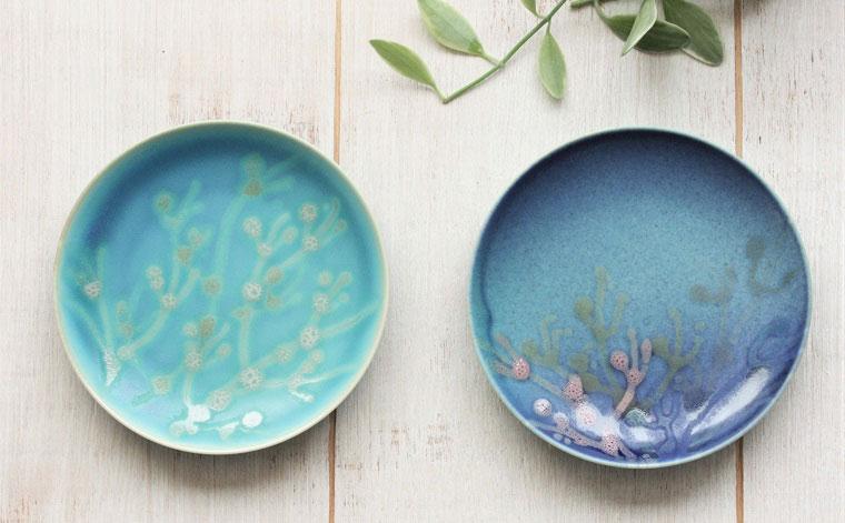 【ふるさと納税】沖縄の海を『ぎゅっ』と閉じ込めた珊瑚プレート 取り皿 2枚