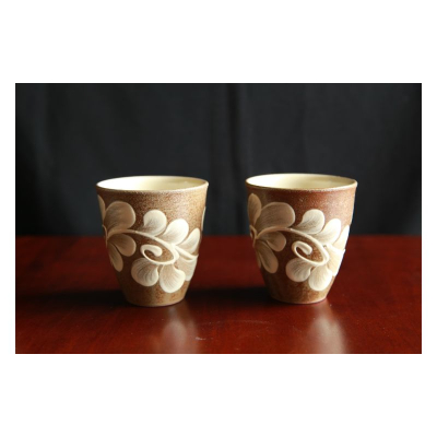 ふるさと納税 伝統工芸 やちむんカフェ器人 驚きの価格が実現 いっちんフリーカップ 2個セット お気にいる