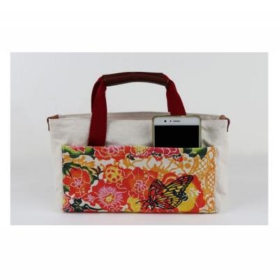 【ふるさと納税】「琉球帆布」【レザーRYUKAバタフライ】バッグインバッグ