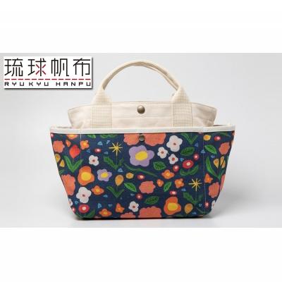 【ふるさと納税】「琉球帆布」お散歩バッグ (mirei)