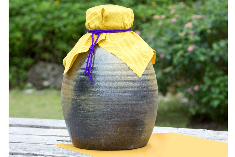 【ふるさと納税】【ようざん窯】my古酒づくりに! 琉球南蛮焼の3升甕