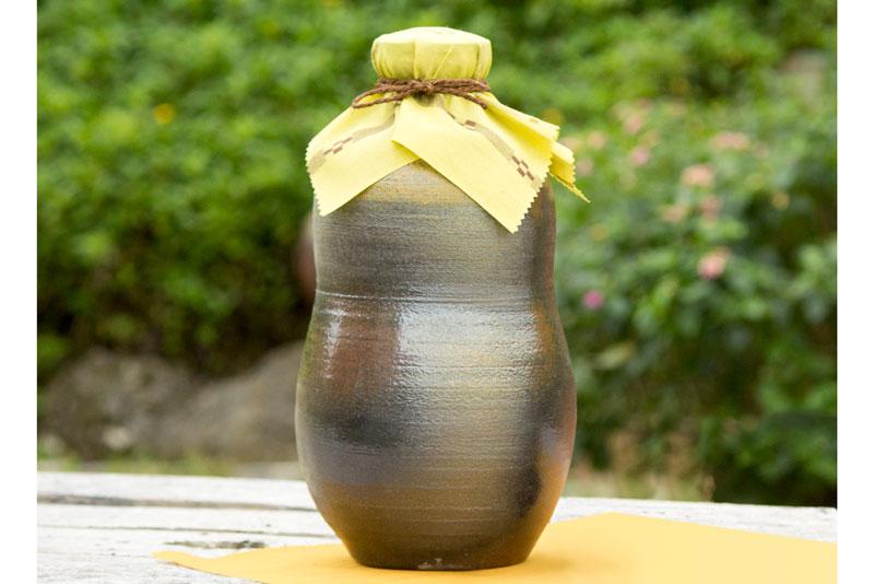 【ふるさと納税】【ようざん窯】my古酒づくりに! 琉球南蛮焼の1升甕