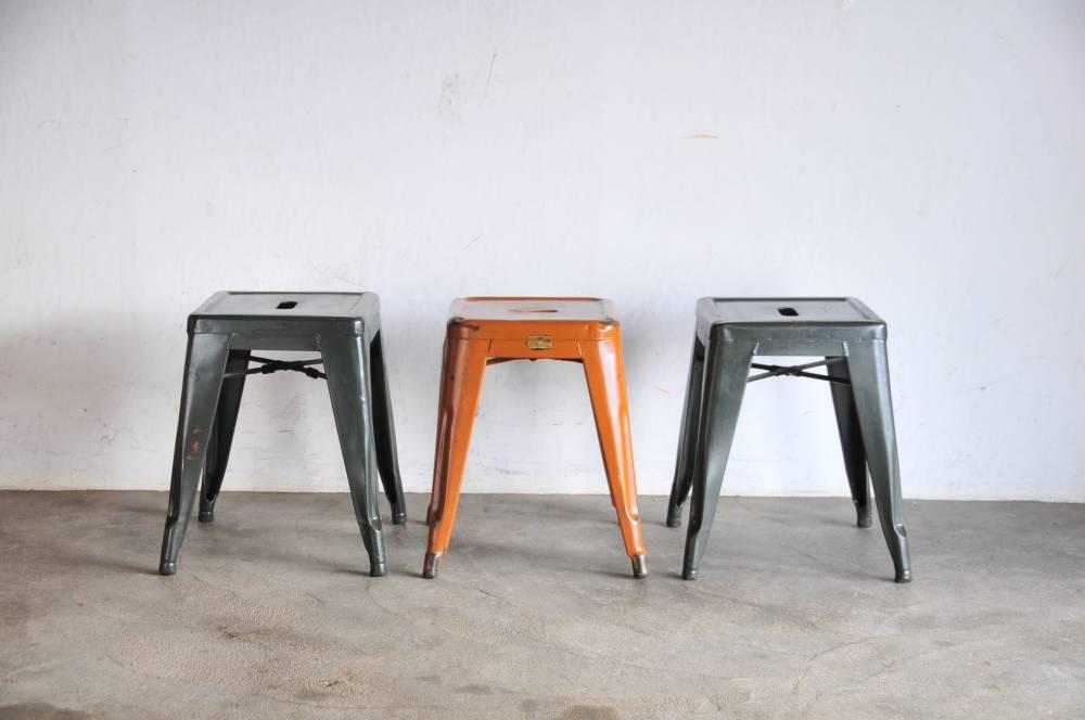 Vintage Tolix H stool 3set【中古】フランス ヴィンテージ アイアンスツール 3脚セット