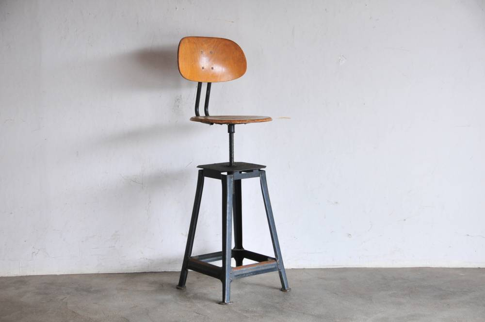 Vintage Industrial hight stool chair【中古】工業デザイン ハイスツール