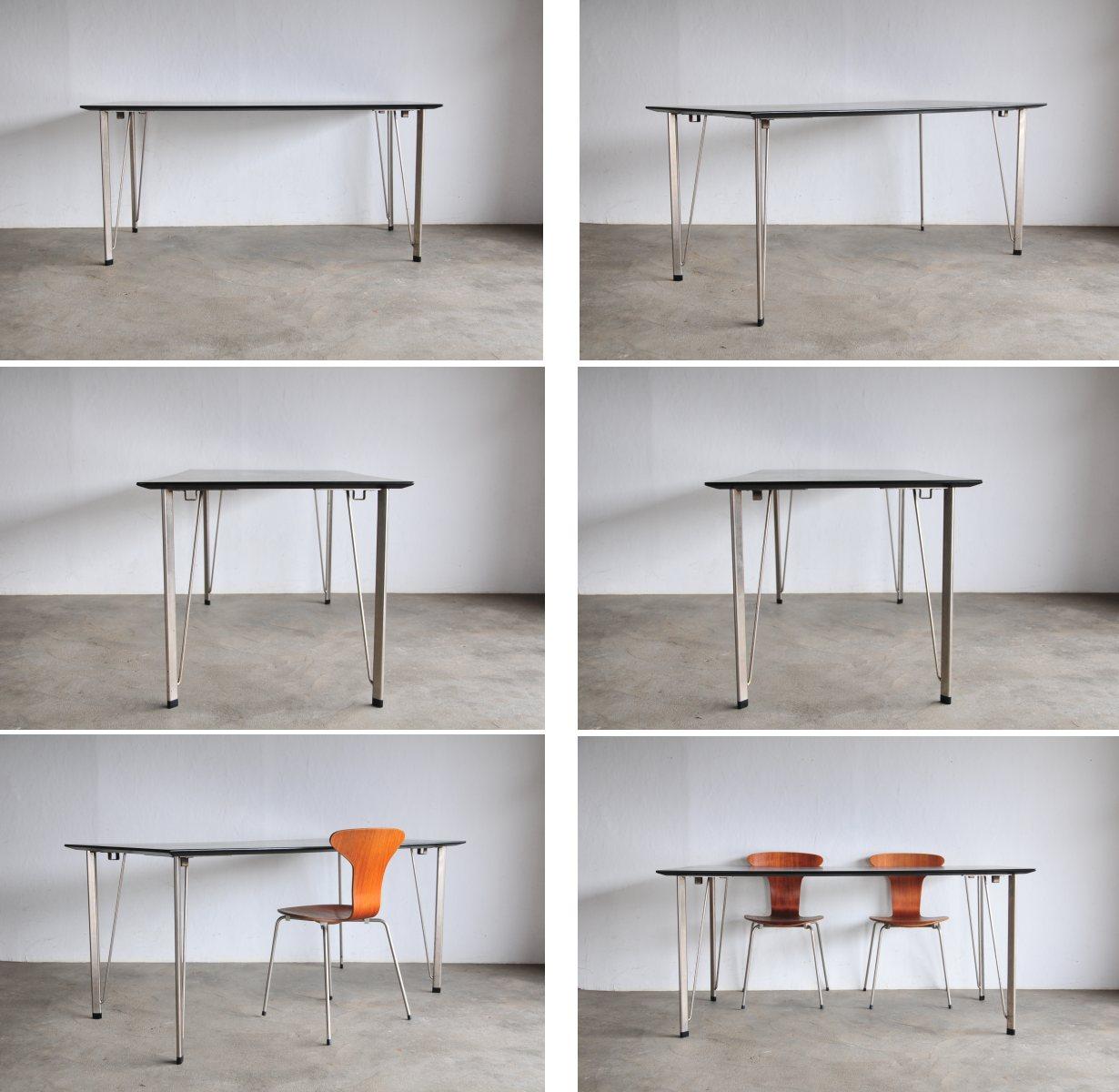 Arne Jacobsen 餐桌 FH3605 黑色弗里茨 · 汉森 Arne Jacobsen