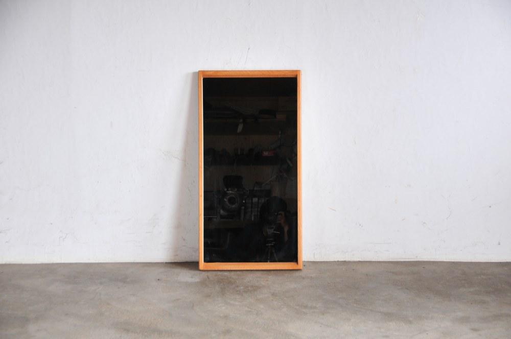 Vintage kjersgaard Mirror Oak Frameデンマーク製ミラー 鏡 北欧家具