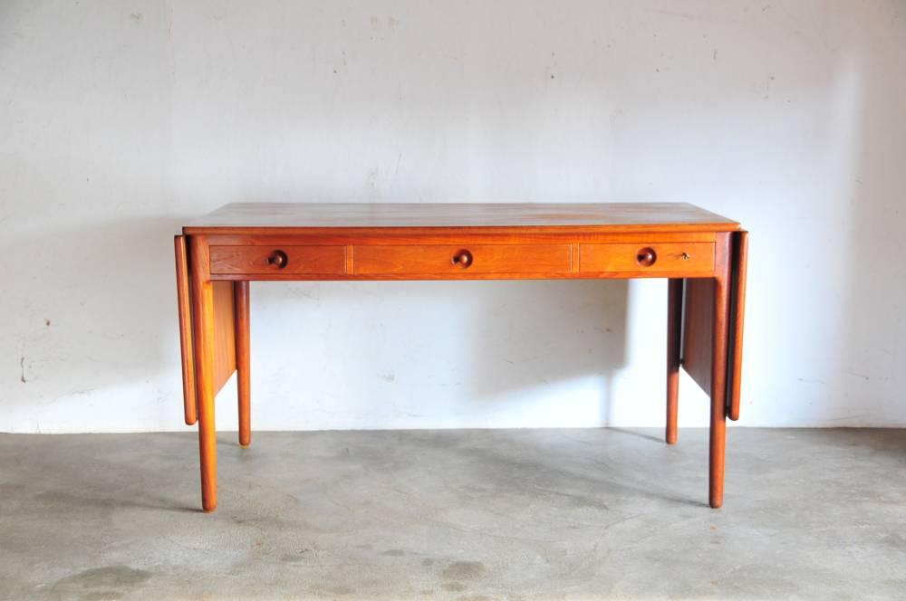 Hans J Wegner AT 305 Teak desk dining table denmarkウェグナー チークデスクダイニングテーブル