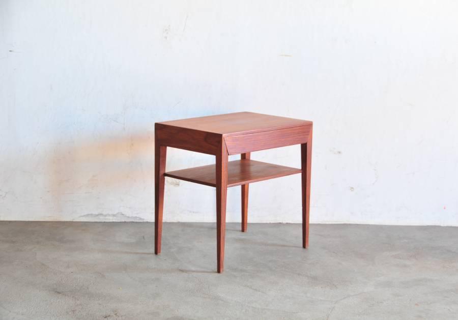 North European Teak Side Table Sewing Table 1240 Haslev Denmark Used  Furniture