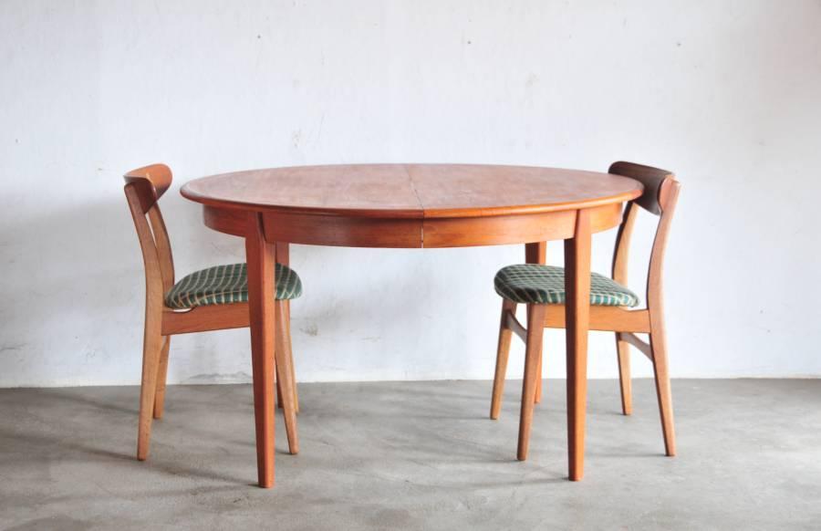 Vintage Teak Dining Table North Europe Antique 1207
