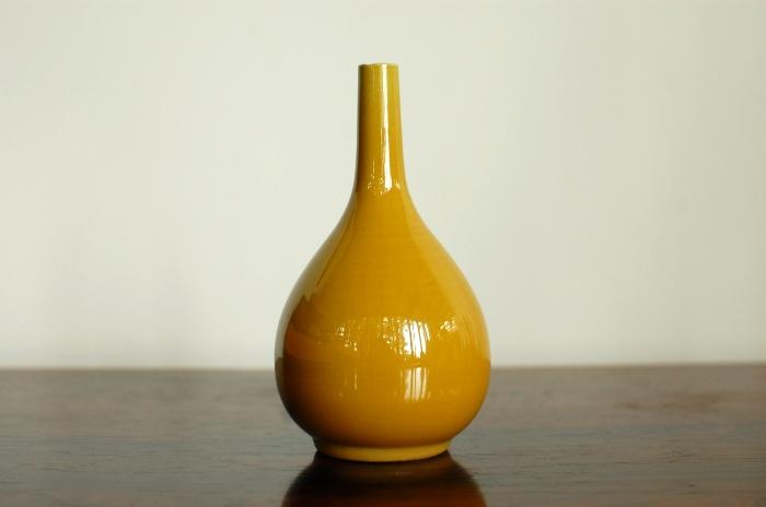 Rorstrand Carl Harry Stalhane Yellow Vase Sweden 【中古】
