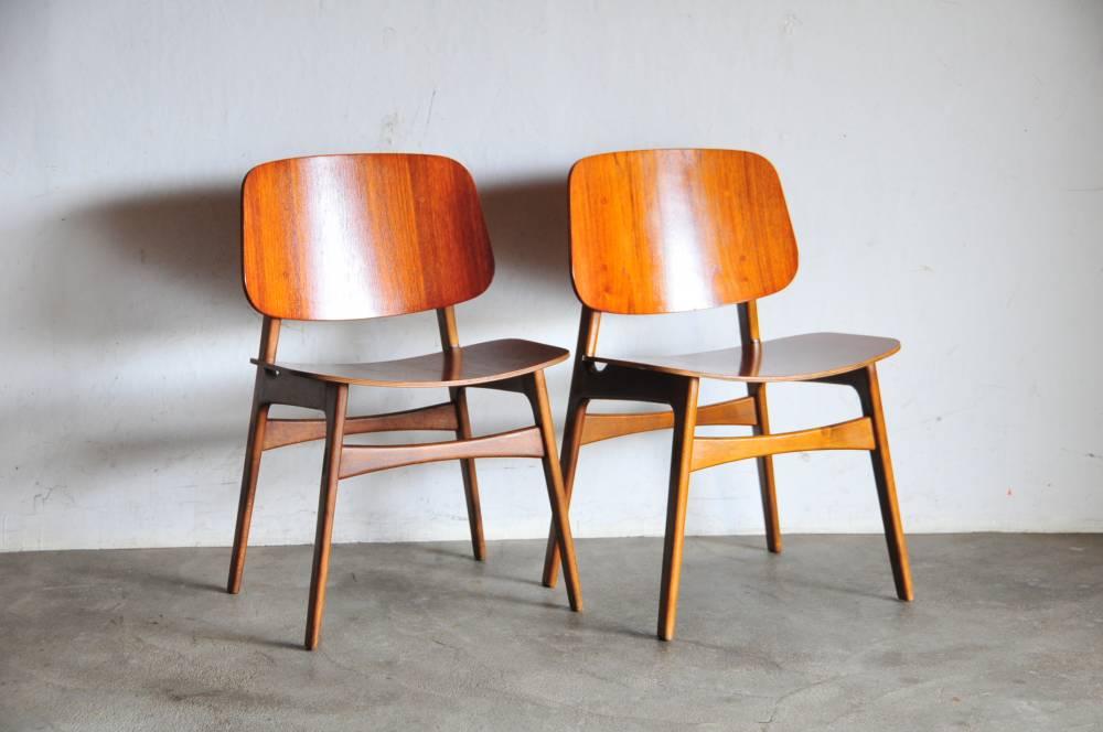 Borge Mogensen Teak Dining Chair No155 setウェグナー モーエンセン 北欧【中古】