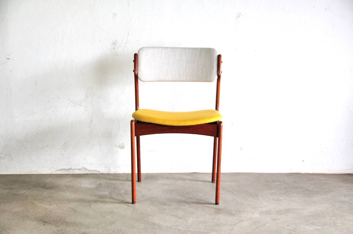 Erik Buck dining chair teak 1230ウェグナー モーエンセン 北欧1230a【中古】