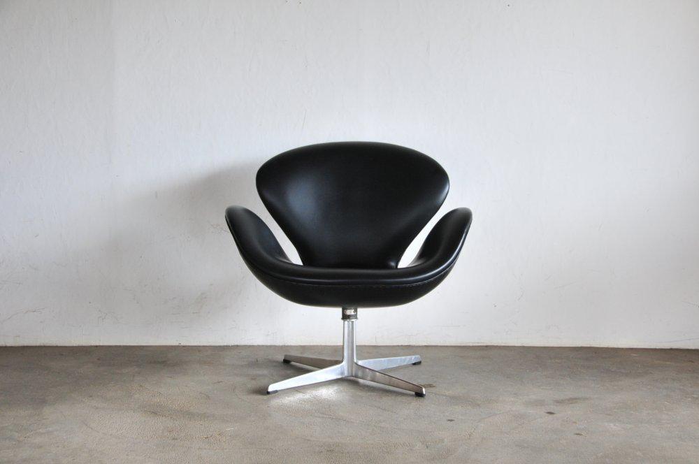 Fritz hansen Jacobsen vintage swan leatherヤコブセンビンテージスワン北欧