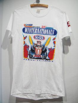 "80'S DRAG RACING  ""NHRA""ホットロッドTシャツ ☆サイズ:M☆ RM-906"